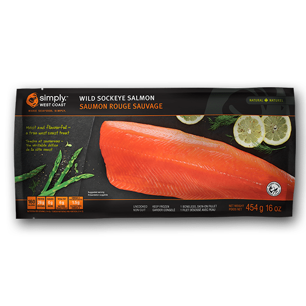 Wild Sockeye Salmon Fillet – 16oz – Simply West Coast